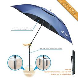 BESROY Portable Large Windproof Beach Umbrella,Carbon Fiber