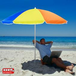 6-foot Rainbow Beach and Patio Umbrella with Adjustable Heig