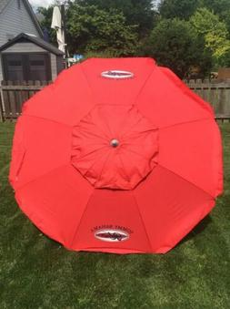 Tommy Bahama Red 7 foot Beach Umbrella with Tilt and Telesco