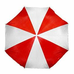 "Large 72"" RED Beach Umbrella Nylon Adjustable Patio Pool Umb"
