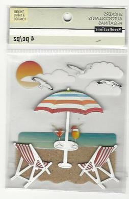 Recollections RELAX AT THE BEACH 3D Stickers  seagulls umbre