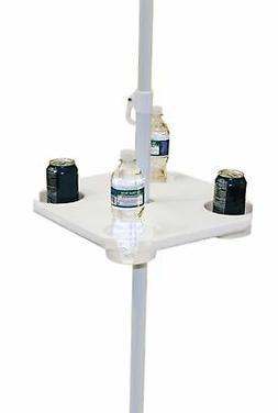Rio Brands UT-01 Beach Umbrella Table, White