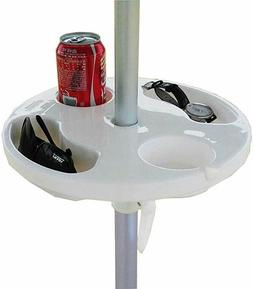 Plastic Beach Umbrella Table with 4 Cup Holders 17 Inch Umbr