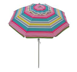 7 FT Sand Anchor Beach Umbrella Includes Aluminum Pole Tilt