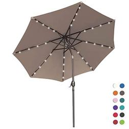 ABCCANOPY Solar Umbrellas Patio Umbrella 9 FT LED Umbrellas