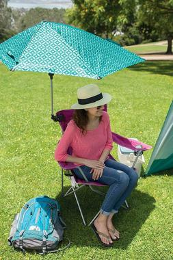 Umbrella Clamp-On Beach Chair Outdoor Portable Universal Sum