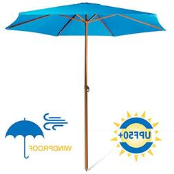 690GRAND Sturdy 8ft Shade Vented Patio Umbrella Aluminum Pol