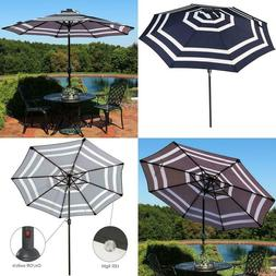 Sunnydaze 9 Foot Outdoor Patio Umbrella With Solar Lights  T