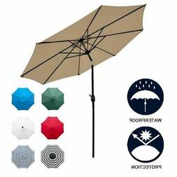 Table Umbrella Outdoor Patio Poolside Beach Camping Picnic U