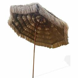 Thatched Tiki Umbrella Beach Patio 8ft Pool Sun Shade Hawaii