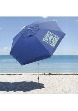 TOMMY BAHAMA Blue Beach Umbrella With Carry Bag 8 Ft New Wit