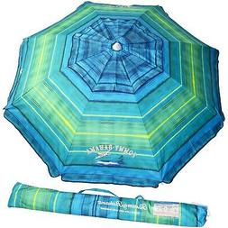 Tommy Bahama Sand Anchor Beach Umbrella FPS100+  Green/Blue