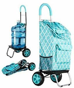 Trolley Dolly, Moroccan Tile Shopping Grocery Foldable Cart