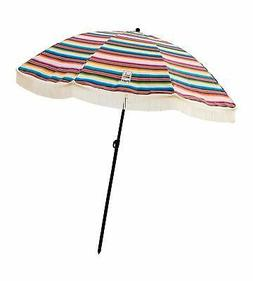 Beach Umbrella, Las Brisas with Fringe, Designed by Beach Br