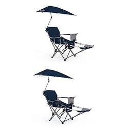 Sport-Brella Umbrella Recliner Folding Chair, Blue