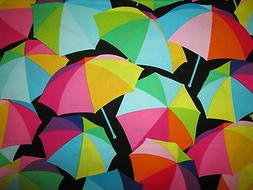 Umbrellas Bright Colors Rain Beach Umbrella On Black Cotton